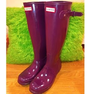 Purple Rubber Hunter Boots